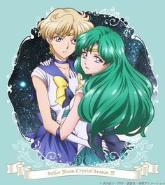 Limited Edition Japanese Sailor Moon Crystal Season 3 Volume 2 cover artwork featuring Sailor Uranus and Sailor Neptune. Buy here http://www.moonkitty.net/where-to-buy-sailor-moon-crystal-bluray-dvd-reviews.php