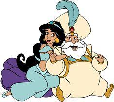 Disney Pixar, Disney Movie Characters, Disney Art, Disney Movies, Sultan Aladdin, Princesa Jasmine, Cinderella Movie, Disney Clipart, Disney Designs