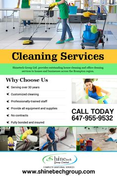 Shinetech Group Limited provides outstanding house cleaning and office cleaning services to homes and businesses across the brampton region.