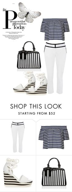 """""""Stripes 1,2,3"""" by kimberlydalessandro ❤ liked on Polyvore featuring Topshop and MaxMara"""