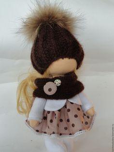 Купить интерьерная кукла - коричневый, интерьерная кукла, подарок на любой случай, колекционная кукла