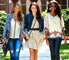 We cannot wait for the school year to start. Especially for a closet full of fresh fashion. #college #patterns #fashion