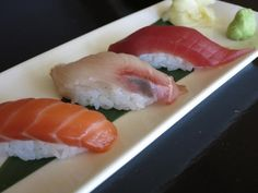 Nigiri at Chaya Brasserie and a lesson in eating sushi the right way. #sf