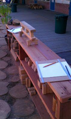 Outdoor block storage / Exploring the Outdoor Classroom