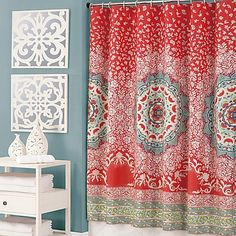 The Amrita Medallion Shower Curtain From Jessica Simpson Lets You Transform Your Bathroom Into An Exotic