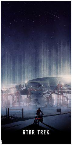 Great Star Trek 2009 poster.  Love the scale and length. By Matt Ferguson (Cakes-and-Comics.deviantart.com)