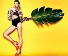 Tropical Exuberance Editorials - The Carmen Miranda Reloaded Photo Series Tributes The Style Icon (GALLERY)