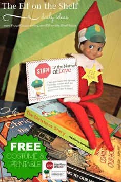FREE Elf on the Shelf Costumes including this Elf Patrol with two free Notes. Also jmore FREE Elf on the Shelf Printable Notes . Dozens of Easy and Creative Elf on the Shelf Ideas on Frugal Coupon Living.