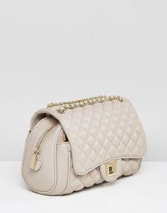 Marc B Knightsbridge Quilted Shoulder Bag in Nude - Beige Asos Online Shopping, Online Shopping Clothes, Quilted Shoulder Bags, Latest Fashion Clothes, Sling Bags, Chanel, Nude, Mens Fashion, Beige