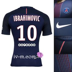 Flocage maillot IBRAHIMOVIC psg paris 2016-2017 domicile bleu football store