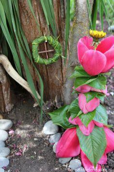 Fairy house nature craft garden miniature