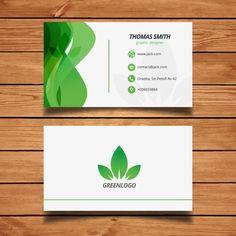 Green Design Nature Carte de visite Vecteur gratuit