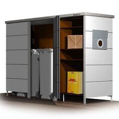 Paketbox mit Hintertür Paketkasten, Einrichtung