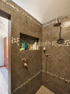 niche.....Traditional Bathroom White Tile Bath Design, Pictures, Remodel, Decor and Ideas - page 509