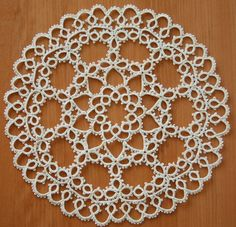 Vintage Linen Tatted Lace Doily
