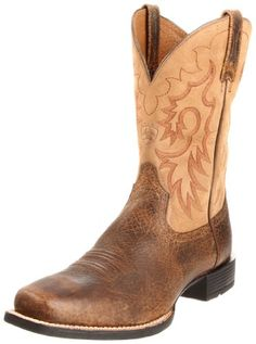 Great everyday horseman's boot: simple, durable, comfortable. The ATS(tm) footbed technology maximizes performance with unmatched stability and comfort. Duratread(tm) outsoles take the beatings that all-day, every-day work and riding dish out. Square toe design and a six-row stitch pattern make for a real go anywhere, do anything boot.