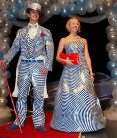 Duct tape prom dress and tux, file under Making Stuff or Nerdology? Nerd trumps craft I think...