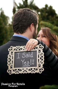 Engagement Photo, I said Yes