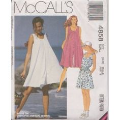 Misses Romper-For Stretch Knits Only McCall's Sewing Pattern 4858 (Size: 10-12)  byMcCall's  Be the first t