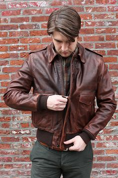 Schott Hand-Oiled Leather Slim A2 Jacket | Epaulet New York