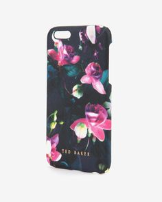 I saw this in the shop recently, I haven't even brought my iPhone 6 yet and I'm already tempted to buy this. Fuchsia Floral iPhone 6 case - Dark Blue | Gifts for Her | Ted Baker UK