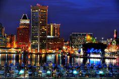 The Inner Harbor in Baltimore