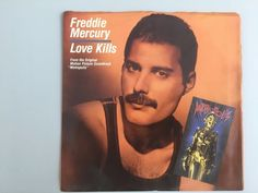 Freddie Mercury - Queen - Love kills - USA - white label promo with PS
