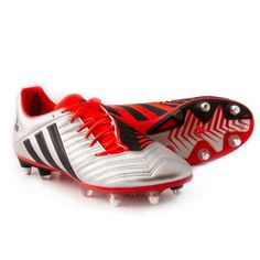 sale retailer c317a 773b1 adidas Predator Incurza XTRX SG Rugby Boots Silver - Front
