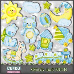 FREEBIE - Baby Glow Stickers (TS/CU4CU) | Scrap and Tubes