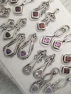 Jewelry Making Supplies Lisel Crowley Art Nouveau Earrings In Metal Clay: Tucson Jewelry Making Classes Metal Clay Rings, Metal Clay Jewelry, Enamel Jewelry, Sea Glass Jewelry, Silver Wedding Jewelry, Silver Jewellery Indian, Silver Ring, Silver Earrings, 925 Silver