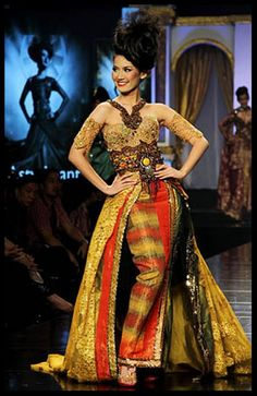 Kebaya - Indonesia..Lace Modern ideas