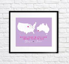 Custom Best Friend Gift Long Distance Friends by WanderingFables, $24.99 www.etsy.com/shop/wanderingfables