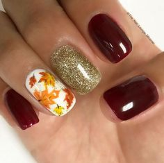 50 Fall Nail Art ideas and Autumn Color Combos to try on this season – Hike n Dip Loading. 50 Fall Nail Art ideas and Autumn Color Combos to try on this season – Hike n Dip Fall Acrylic Nails, Autumn Nails, Winter Nails, Fall Nail Art Autumn, Cute Fall Nails, Fall Toe Nails, Autumn Makeup, Thanksgiving Nail Designs, Thanksgiving Nails