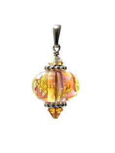 Omnipot Furnace -- ヴァレリー(7) ハートビート Lampwork Beads, Christmas Bulbs, Holiday Decor, Christmas Light Bulbs