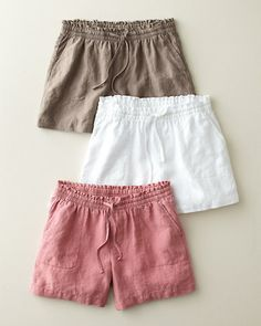 Weekend Linen Shorts, all they need are a well worn button down and favorite sandals.
