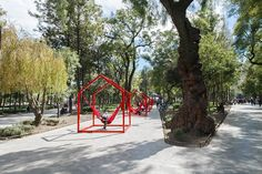 'mi casa, your casa' is a playful urban installation for the time of social distancing Atlanta Art, Event Solutions, Cute Panda Wallpaper, Panda Wallpapers, Mexican Designs, Basic Shapes, Geometric Shapes, Urban, Activities