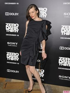 Milla Jovovich looks stunning at the premiere of 'Zero Dark Thirty' at the #Dolby Theatre in Hollywood on December 10, 2012.  http://celebhotspots.com/hotspot/?hotspotid=5623&next=1