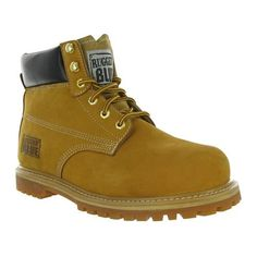 Rugged Blue Steel Toe Waterproof Mens Work Boots - Tan (bestseller)