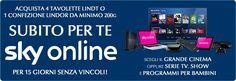 Lindt ti offre Sky Online gratis per 15 giorni