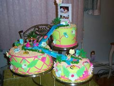 This cake was made by Pamela Gonzalez, if you need a specialty cake call me at 609-226-3423, thanks. :)