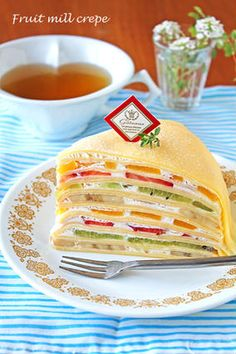 Fancy Desserts, Sweet Desserts, French Sweets, Breakfast Recipes, Dessert Recipes, Crepes And Waffles, Crepe Cake, Pescatarian Recipes, Japanese Dishes