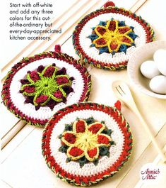 Annie's+Scrap+Crochet+Club | Annie's Scrap Crochet Club Star Pot Holder Crochet Pattern