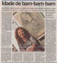 #BethCarvalho 2008 Jornal O Dia