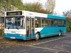 Arriva Dennis Dart parked in Corwen waiting to form the 08:10 service to Wrexham