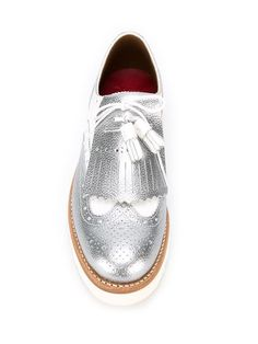 Shop Grenson 'Emily' flatform brogues in The Shop at Bluebird from the world's best independent boutiques at farfetch.com. Shop 400 boutiques at one address.