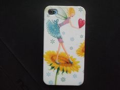 Little Fairy on the Sun Flower decoupage case for iPhone4/4s /Cover case / Hard Case / Accessories / smartphone on Etsy, ฿485.89