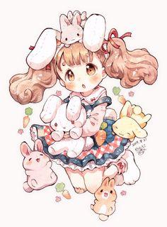 Cute Anime Chibi, Chica Anime Manga, Kawaii Chibi, Kawaii Anime Girl, Kawaii Art, Anime Art Girl, Pikachu Chibi, Cute Kawaii Drawings, Cute Animal Drawings
