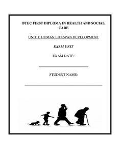 BTEC L2 Health and Social Care NEW SPEC UNIT 1 HUMAN LIFESPAN