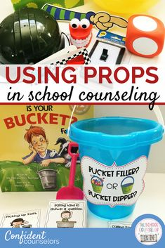 Use props in school counseling to make lesson engaging and memorable. Props are simple and cost-effective additions to school counseling lessons and activities that bring a concept alive.