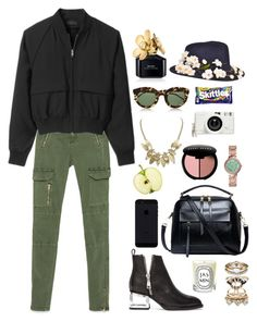 """""""No more words"""" by itsmytimetoshinecoco ❤ liked on Polyvore featuring Zara, G.V.G.V., Bobbi Brown Cosmetics, Marc Jacobs, Lomography, Jeffrey Campbell, Accessorize, FOSSIL, River Island and Bundle MacLaren Millinery"""